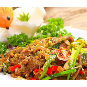 Stir fried goat meat