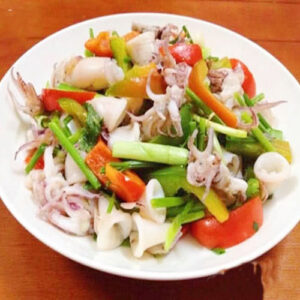 Sauteed squid with celeries