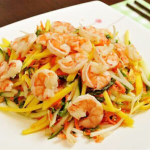 Green mango salad with seafood