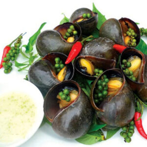 Steamed snail with lamongrass