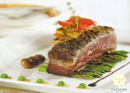 Beef chops with redwine sauce