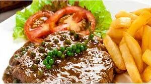 Beef with green pepper sauce